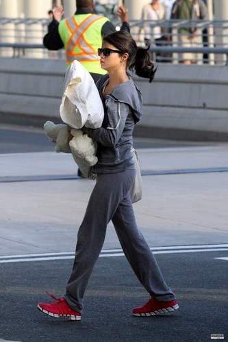 Selena - Departing from Toronto's airport - June 20, 2011