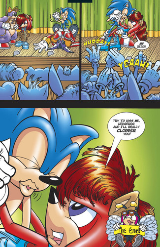 Sonic tries to Kiss Knuckles