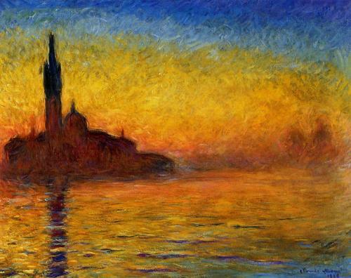 Sunset In Venice por Claude Monet in The Thomas Crown Affair