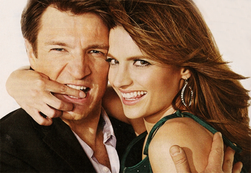 Nathan Fillion & Stana Katic wallpaper with a portrait titled TV Guide Magazine