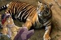 Taranee's pet tiger