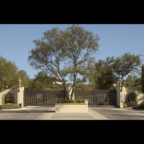 The Front Gates of Katherine Jackson's Home [=