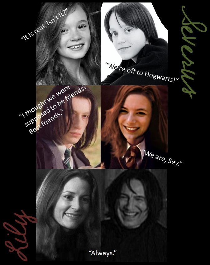 Through The Years Severus Snape Lily Evans Photo
