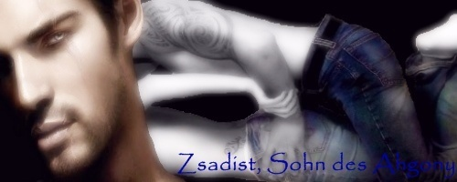 The Black Dagger Brotherhood پیپر وال probably containing a sign and a portrait called Zsadist Banner