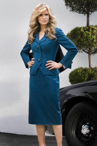 The Closer wallpaper with a well dressed person entitled brenda blue suit1