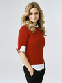 brenda red sweater2
