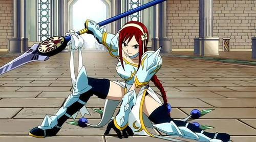 mikio wallpaper entitled erza scarlet