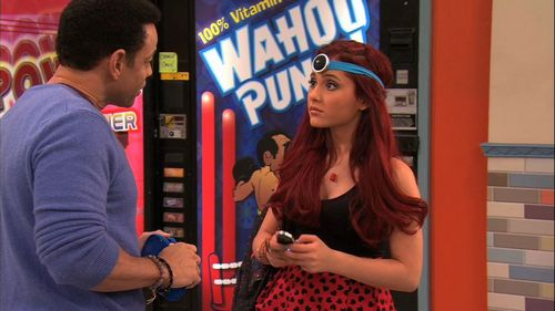 Ariana Grande karatasi la kupamba ukuta called iCarly 4x10- iParty with Victorious