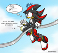if shadow missed the rail - shadow-the-hedgehog photo