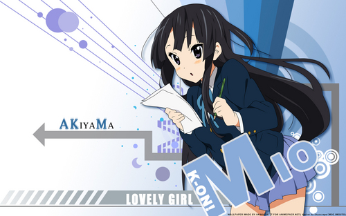 mikio wallpaper probably with anime entitled mio akiyama