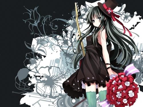 mikio wallpaper with a bouquet called mio akiyama