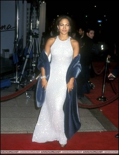 Selena (the movie) वॉलपेपर possibly containing a gown, a रात का खाना dress, and a bridesmaid titled selena-premiere-1997
