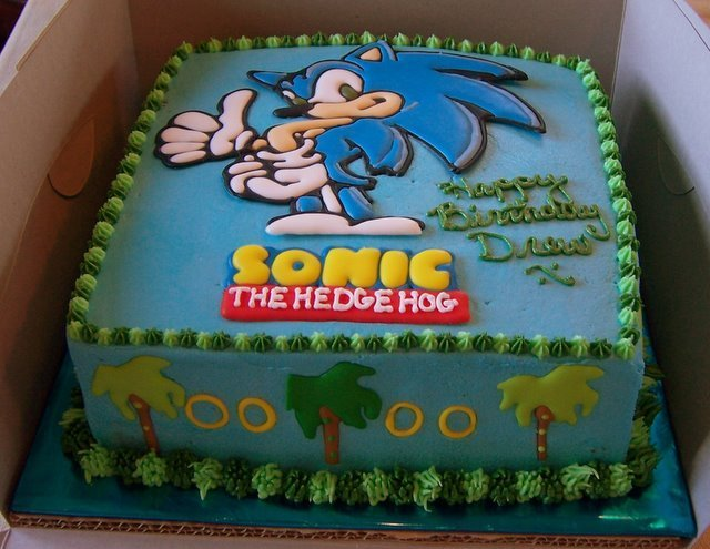 Sonic Cake Sonic The Hedgehog Foto 23028683 Fanpop