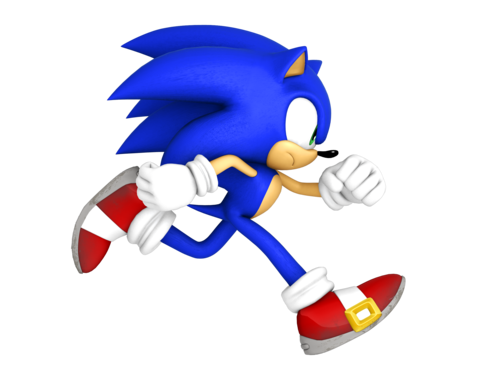 Sonic the Hedgehog karatasi la kupamba ukuta titled sonic runs (not that type of run)