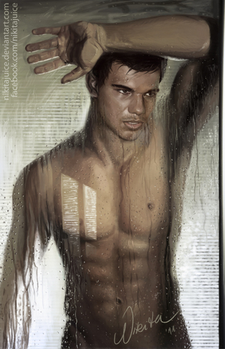 taylor lautner in the shower!
