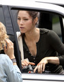 Jessica Biel on the Set of Total Recall in Toronto, June 23 - jessica-biel photo