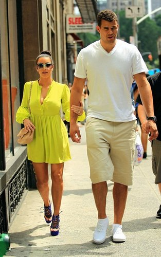 Kim Kardashian and Kris Humphries in NYC. (June 25)