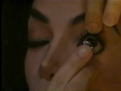 //RARE// Michael putting eye lashes in his eyes for the video Ghosts ♥
