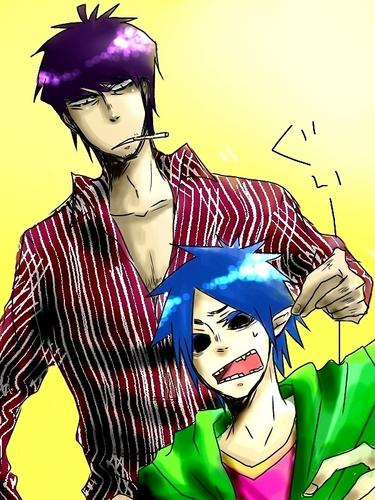 2D and Murdoc Anime
