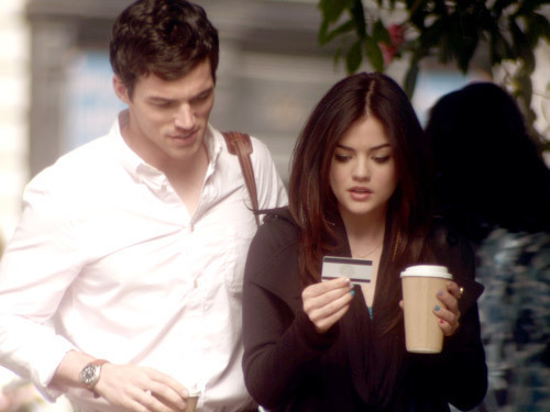 Ezra & Aria wallpaper probably containing a well dressed person, a business suit, and a portrait titled 2x03