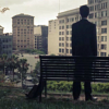 500 Days of Summer photo with a business district and a park bench entitled 500 Days of Summer