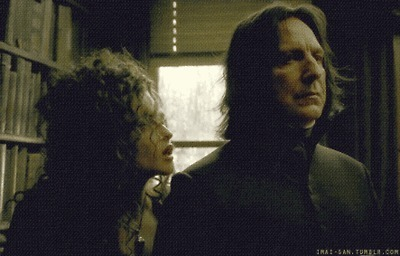 Alan & Helena Bonham Carter as Snape & Bellatrix