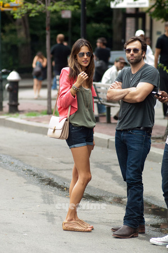 Alessandra Ambrosio out for lunch in New York, Jun 23