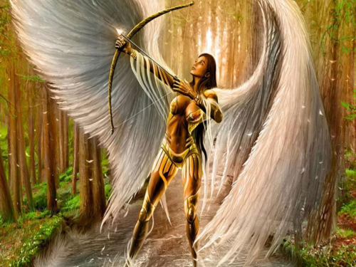 Fantasy wallpaper entitled Angel Warrior