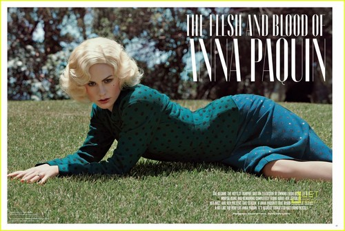 Anna Paquin: Blonde Wig for 'V' Magazine!