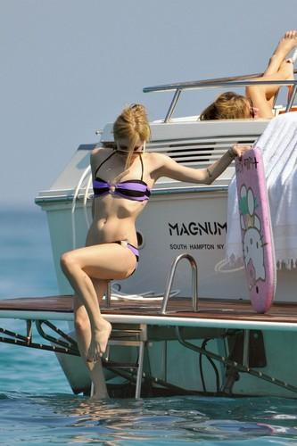 Avril Lavigne In Bikini On A Yacht in St. Tropez