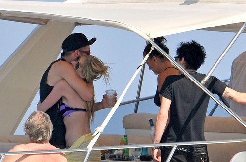 Avril Lavigne In Bikini On A Yacht in St. Tropez