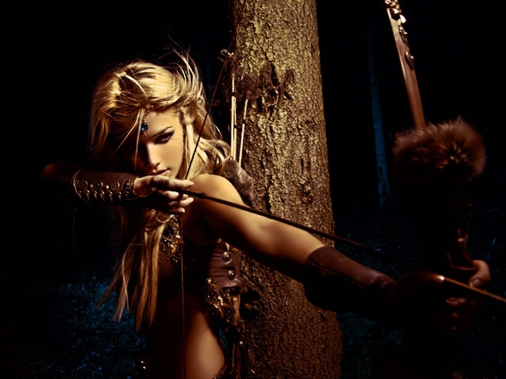 Fantasy Beautiful ArcherMedieval Archery Wallpaper