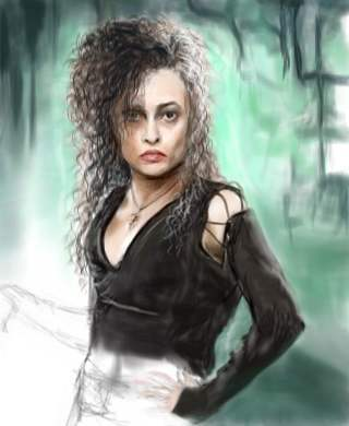 Bellatrix Lestrange wallpaper with attractiveness, a portrait, and a cocktail dress called Bellatrix Fanart