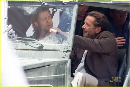 Brad Pitt: 'World War Z' Car Ride!