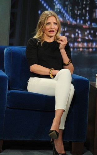 "Cameron Diaz visiting ""Late Night with Jimmy Fallon"" (June 21)."