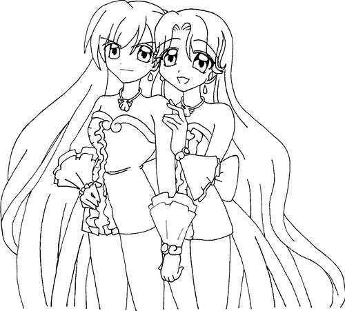 Noel, Mermaid Melody 壁紙 possibly containing a bouquet and an embryonic cell titled Caren and Noel