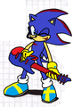Clank with his guitar - clank-the-hedgehog photo