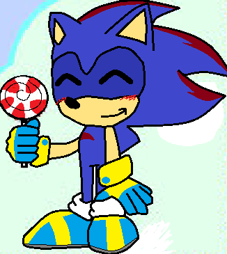 Clank The Hedgehog wallpaper with anime titled Clank with his lollipop