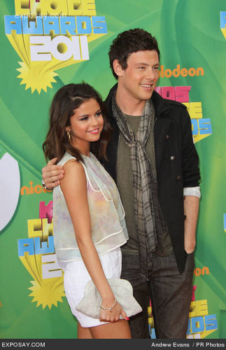Cory Monteith wallpaper with a portrait entitled Cory & Selena:)