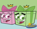 Cosmo and Wanda as present boxes!