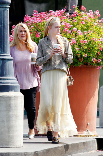 Elle Fanning heads to Starbucks in Hollywood, Jun 21