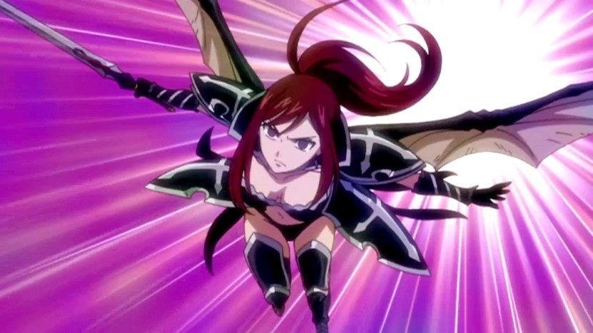 Fairy Tail Erza Sea Empress Armor Erza changes to black ...
