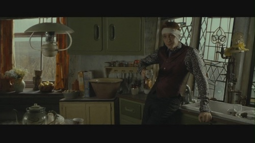 Fred and George Weasley wallpaper probably with a kitchen, a sign, and a living room entitled Fred & George in Deathly Hallows pt 1