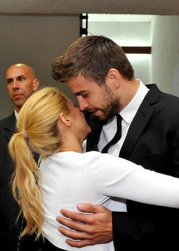 Gerard Piqué wallpaper possibly containing a business suit entitled G. Pique in Israel with Shakira