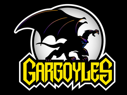 The 90s wallpaper possibly with anime called Gargoyles