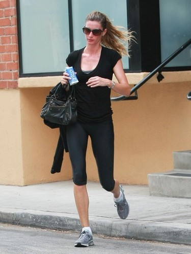 Gisele Bundchen leaves the gym in Studio City after a workout.