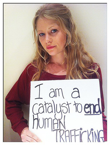 I am a catalyst to end human trafficking - emilie-de-ravin Photo