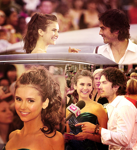 Ian Somerhalder and Nina Dobrev wallpaper called Ian/Nina @ MMVAღ