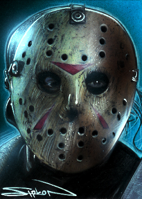 Friday the 13th wallpaper titled Jason Voorhees Sketch Card