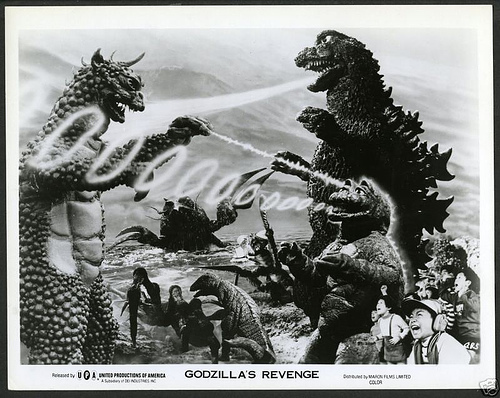 Godzilla achtergrond containing anime entitled Jirass vs Gomess